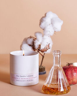 GARDENIA JASMINE WOMENS ACCESSORIES THE CANDLE LIBRARY HOME + BODY - 3BBCL03PUR