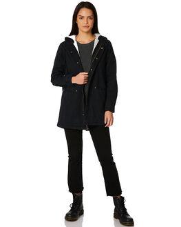 BLACK WOMENS CLOTHING THRILLS JACKETS - WTW8-212BBLK