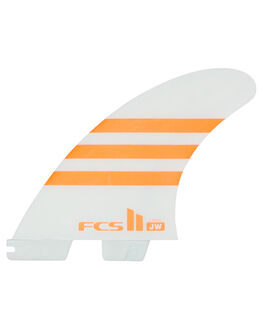ORANGE WHITE BOARDSPORTS SURF FCS FINS - FJWL-PC01-LG-TS-RORG