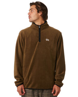 BROWN MENS CLOTHING STUSSY JUMPERS - ST096201BROWN
