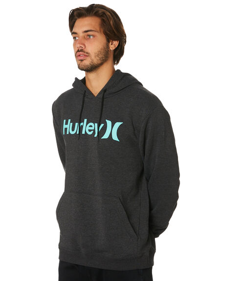 BLK HEATHER TROPICAL MENS CLOTHING HURLEY JUMPERS - AQ0773033