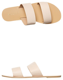 NUDE PEBBLE WOMENS FOOTWEAR BILLINI SLIDES - S404NDEPB