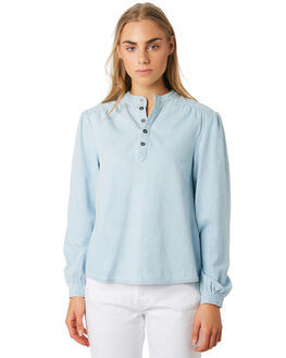 CHAMBRAY WOMENS CLOTHING THE HIDDEN WAY FASHION TOPS - H8194166STRIP