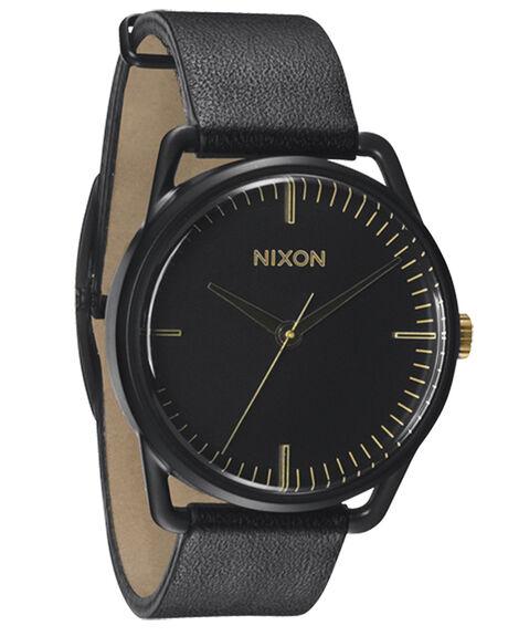MATT BLACK GOLD MENS ACCESSORIES NIXON WATCHES - A1291041MBG