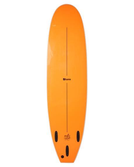 WHITE FLURO ORANGE BOARDSPORTS SURF FOAMIE SOFTBOARDS - F7WWWHFOR