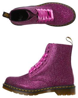 PURPLE MULTI GLITTER WOMENS FOOTWEAR DR. MARTENS BOOTS - SS24320694PURW