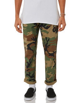 WOODLAND CAMO MENS CLOTHING HUF PANTS - PT00049-WOODC
