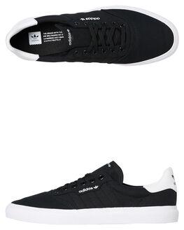 BLACK WHITE MENS FOOTWEAR ADIDAS SKATE SHOES - SSB22706BLKM