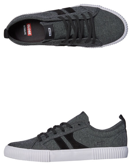 BLACK CHAMBRAY OUTLET MENS GLOBE SKATE SHOES - GBFILMORE-20025