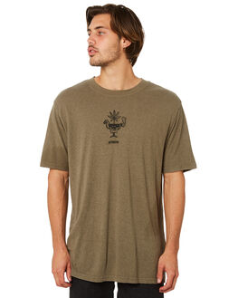 COVERT GREEN MENS CLOTHING AFENDS TEES - M191017CVGRN