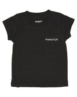 SOFT BLACK KIDS BABY MUNSTER KIDS CLOTHING - MI201TE02SFTBK