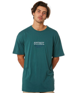 DARK TEAL MENS CLOTHING STUSSY TEES - ST096012DKTEL
