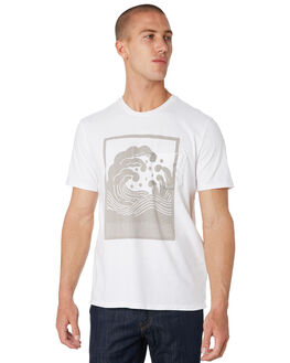 RECYCLED WHITE MENS CLOTHING OUTERKNOWN TEES - 21547RWH