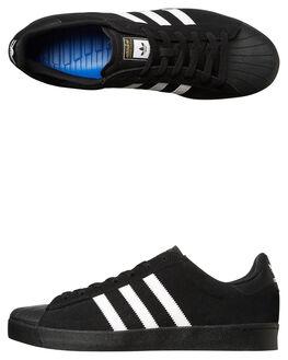 BLACK WHITE MENS FOOTWEAR ADIDAS ORIGINALS SNEAKERS - SSAQ6861BLKM