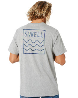 GREY MARLE MENS CLOTHING SWELL TEES - S5201021GRYMA