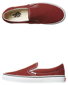 MADDER BROWN WHITE MENS FOOTWEAR VANS SLIP ONS - VN-A38F7OVKMAD
