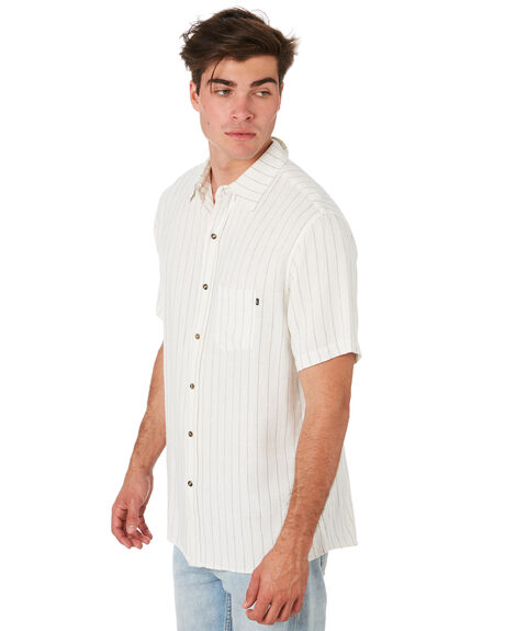 WHITE OUTLET MENS RUSTY SHIRTS - WSM0927WHT