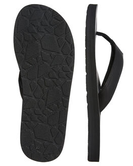 BLACK MENS FOOTWEAR VOLCOM THONGS - V0811884BLK