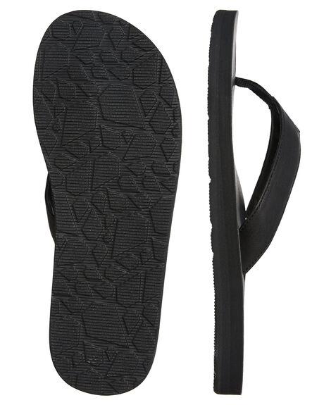 BLACK MENS FOOTWEAR VOLCOM THONGS - V0811884BLK
