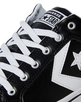 BLACK WHITE MENS FOOTWEAR CONVERSE SNEAKERS - 161608BLK