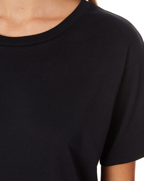 BLACK WOMENS CLOTHING NUDE LUCY TEES - NU23456BLK