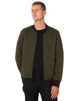 OLIVE MENS CLOTHING HURLEY JACKETS - AJ2224394