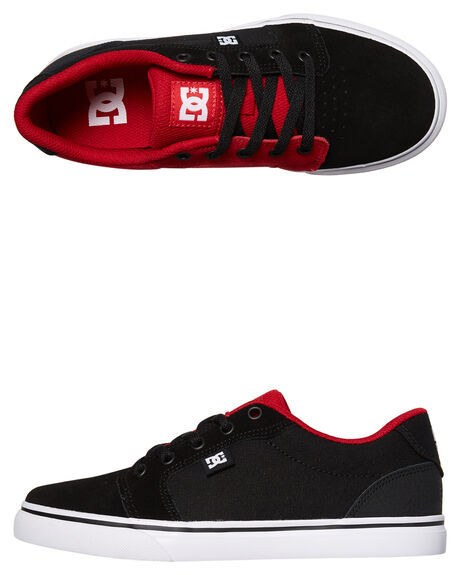 BLACK RED KIDS BOYS DC SHOES SNEAKERS - ADBS300245BLR