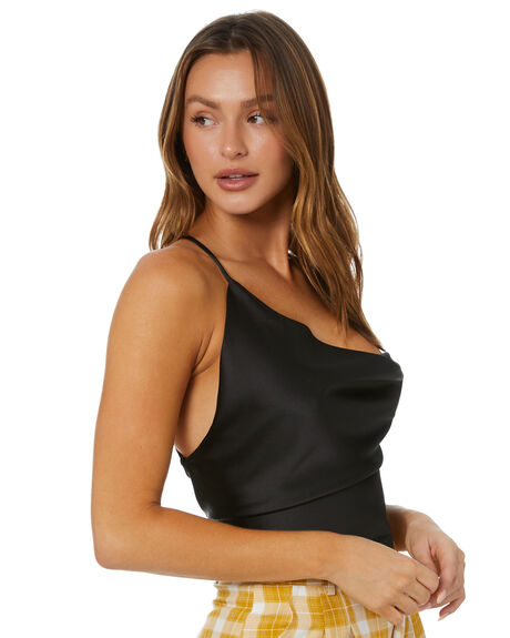 BLACK WOMENS CLOTHING JAGGER AND STONE FASHION TOPS - JST002BLK