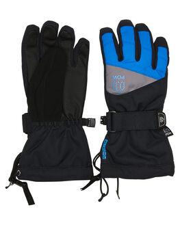 BLACK BLUE BOARDSPORTS SNOW POW GLOVES - ASG-B-S-HIP-BKBLK
