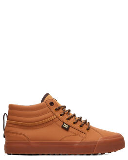 WHEAT/DK CHOCOLATE MENS FOOTWEAR DC SHOES SNEAKERS - ADYS300412-WD4