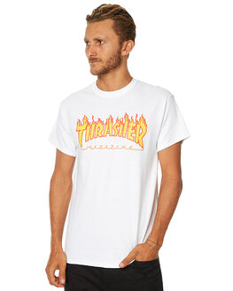 WHITE MENS CLOTHING THRASHER TEES - 311019WHT