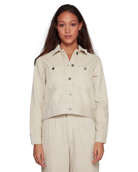 OATMEAL WOMENS CLOTHING RVCA JACKETS - RV-R207432-O10