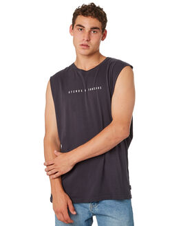 DEEP NAVY MENS CLOTHING AFENDS SINGLETS - M183080DPNVY