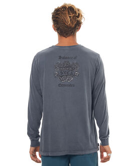 OIL GREY MENS CLOTHING RVCA TEES - R172096OGRY