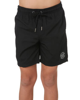 BLACK KIDS BOYS SANTA CRUZ SHORTS - SC-YBNC262BLK