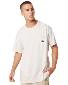 WHITE SAND MENS CLOTHING STUSSY TEES - ST082001WHTSD