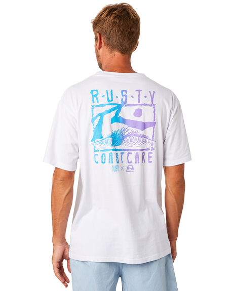 WHITE MENS CLOTHING RUSTY TEES - TTM2141WHT