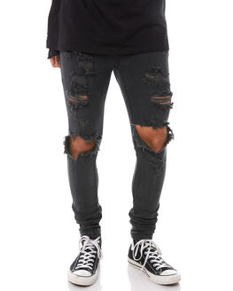 FADED BLACK MENS CLOTHING THE PEOPLE VS JEANS - SS167015FBLK
