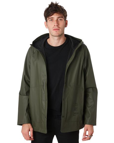 BASQUIAT DARK OLIVE MENS CLOTHING HERSCHEL SUPPLY CO JACKETS - 50001-00450BSQOL