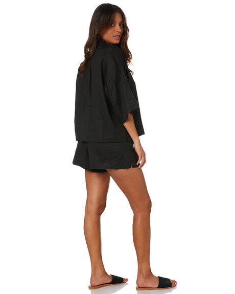 BLACK WOMENS CLOTHING NUDE LUCY SHORTS - NU23970BLK