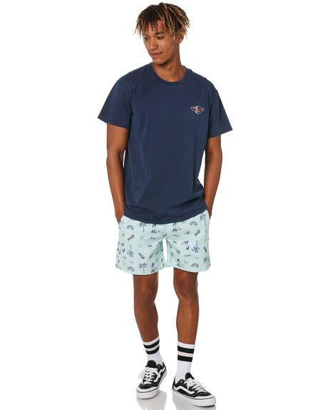 NAVY BLUE MENS CLOTHING RUSTY TEES - TTM2503NVB