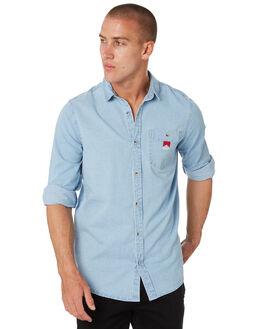 WASHED DENIM MENS CLOTHING ROLLAS SHIRTS - 15692363