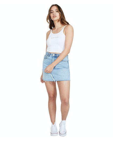 WHITE WOMENS CLOTHING SUBTITLED SINGLETS - 30661500022