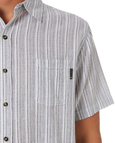 WHITE MENS CLOTHING RUSTY SHIRTS - WSM0915WHT