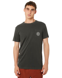 WASHED CHARCOAL MENS CLOTHING RHYTHM TEES - OCT18M-PT02-CHAI