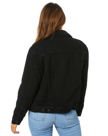 FOREVER BLACK WOMENS CLOTHING LEVI'S JACKETS - 36137-0015FBLK