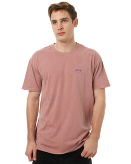 DIRTY PINK MENS CLOTHING STUSSY TEES - ST071000DPNK
