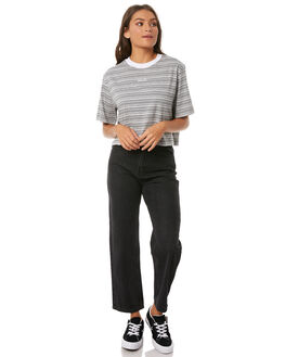 GREY MARLE STRIPE WOMENS CLOTHING AFENDS TEES - W181003GRYM