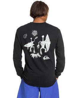 BLACK MENS CLOTHING QUIKSILVER TEES - EQYZT05735-KVJ0