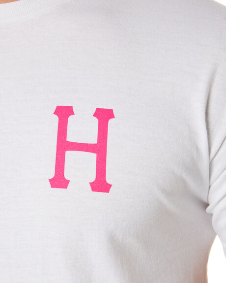WHITE OUTLET MENS HUF TEES - TS00727-WHT